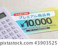 food voucher, calculator, budget 43903525
