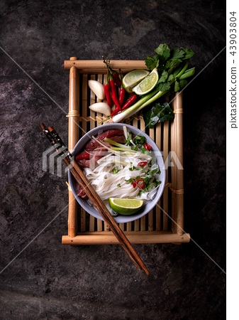 Traditional Vietnamese soup Pho Bo 43903804