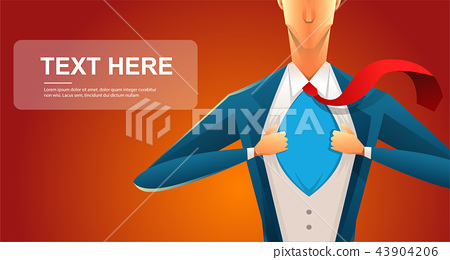 Handsome young man in a business suit wearing a tie with a white shirt. Vector illustration on white 43904206