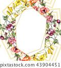 bouquet, watercolor, frame 43904451