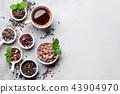 Various tea. Black, green and red tea 43904970