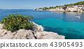 Beautiful turquoise bay at Ibiza 43905493