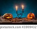 halloween, pumpkin, moon 43909432