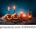 halloween, pumpkin, moon 43909460