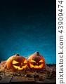 halloween, pumpkin, moon 43909474