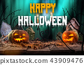 halloween, pumpkin, moon 43909476