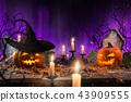 halloween, autumn, pumpkin 43909555