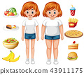 fit, overweight, food 43911175