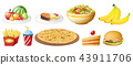 A set of food on white background 43911706
