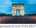 Arc de Triomphe and Champs Elysees in Paris,France 43912827