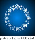Wreath Snowflakes. New Year or Christmas Frame. 43912966