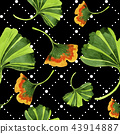 Colorful leaves ginkgo. Leaf plant botanical garden floral foliage.Seamless background pattern. 43914887