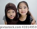 Portrait of cute girl in Halloween costume 43914959