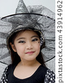Portrait of cute girl in Halloween costume 43914962