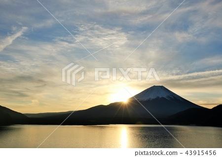 후지산, 산, 새벽 43915456