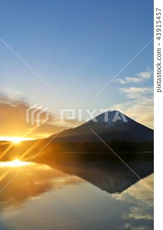 후지산, 물 위에 거꾸로 비친 후지산, 산 43915457