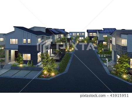 夜景 住宅區 居住區 43915951