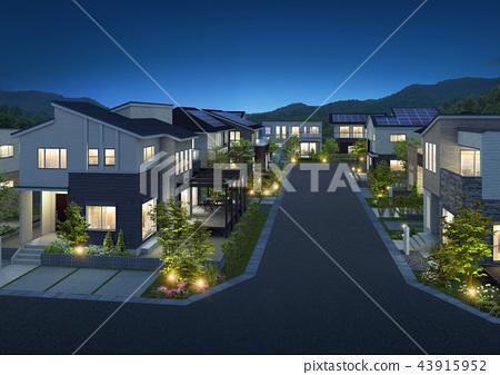 夜景 住宅區 居住區 43915952