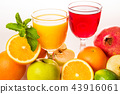Ripe fruit and juice. 43916061