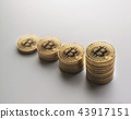 abstract bitcoin coins stacks growing up concept. 43917151