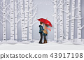 Illustration of Love and winter season 43917198