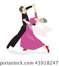 시니어의 사교 댄스 43918247