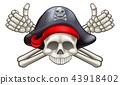 Skull and Crossbones Pirate 43918402