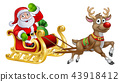 Santa Sleigh Christmas Cartoon 43918412