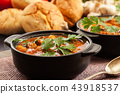 Stew soup with meat, potatoes and mushrooms 43918537