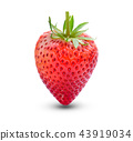 Strawberry isolated on white background. 43919034