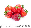 Strawberry fruit isolated on white background. 43919036