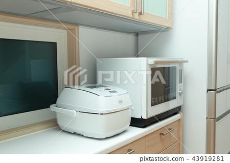 電器(電磁爐微波爐廚房廚房做飯白色白宮豪宅烹飪) 43919281