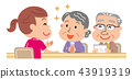 Care management elderly person illustration 43919319
