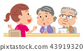 Care management elderly person illustration 43919320