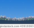도시의 거리 야경 풍경 43919363