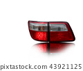 Car tail lights that are separate from the backgro 43921125