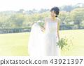 穿著婚禮禮服的新娘 43921397