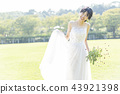 穿著婚禮禮服的新娘 43921398