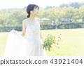 穿着婚礼礼服的新娘 43921404