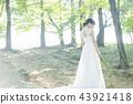 穿著婚禮禮服的新娘 43921418
