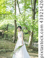 穿著婚禮禮服的新娘 43921426