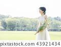 穿著婚禮禮服的新娘 43921434
