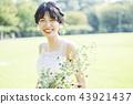 穿着婚礼礼服的新娘 43921437