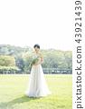穿著婚禮禮服的新娘 43921439