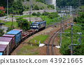EF 210 container freight train to challenge over Ceno Hachi 43921665