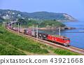 니가타 현 일본 해안을 달리는 EF510-21 컨테이너화물 열차 43921668