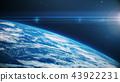 blue realistic glow earth in open space 43922231