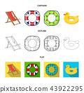 swimming circle multicolored 43922295