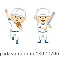 ผู้ชายที่เล่นเบสบอล 43922706