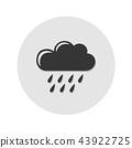 rain icon grey cloud symbol 43922725